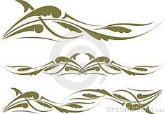 Decorative various ornate swirling motifs