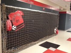 Soccer theme to hang their beautiful work!