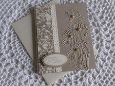 Stampin' Up Handmade Greeting Card Birthday using Flower Garden Textured Impressions Folder