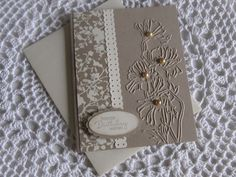 Stampin' Up Handmade Greeting Card Birthday using Flower Garden Textured Impressions Folder