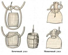 Knots to carry barrels and sacks