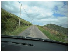 driving up the road called The Goat's Path, Sheep's Head peninsula, West Cork