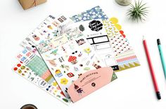 A fun variety of stickers and labels with a total of 6 sticker sheets. This set includes paper and film stickers, perfect for adding a little cuteness to notes, calendars, packages, planners, phone, sticker collection.  Quantity: 1 Set (6 sticker sheets) Sticker Sheet Size: 6.5 x 5 inches Sticker Style: Paper & Film   ★ Sticker collection: https://www.etsy.com/shop/mopapo?section_id=17937323&ref=shopsection_leftnav_5