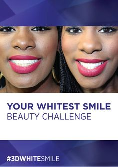 Want a brighter smile in time for the holidays? Take our 2 Weeks to Your Whitest Smile challenge! For proof, check out Gleam before and after using White Whitestrips! Crest 3d White, White Smile, White Strips, Winter White, Teeth Whitening, Challenge, Skin Care, Holidays, Check