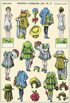 paper doll - 3 by sonobugiardo, via Flickr Researched the name, Sono Bugiardo, but not a lot of help. Still need the artist name or at least the publisher.