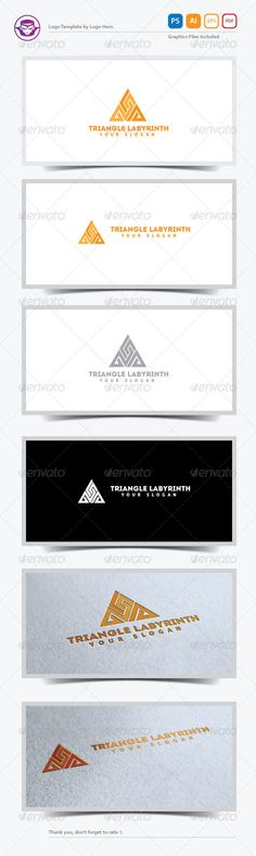 Triangle Labyrinth  - Logo Design Template Vector #logotype Download it here: http://graphicriver.net/item/triangle-labyrinth-logo-template/5232100?s_rank=495?ref=nexion