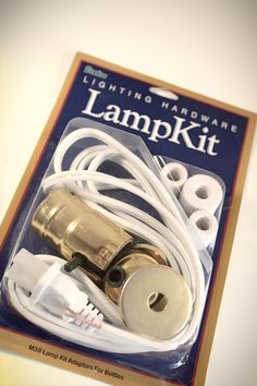 Lamp making kit with bottle adapter