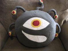Plush Monster Pillow Doll  Eyeball Monster by freakyfleece on Etsy, $95.00