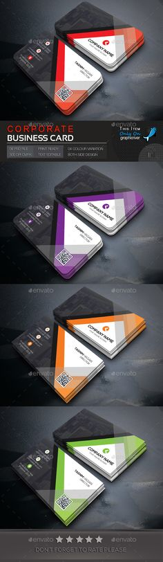 Corporate Business Card Template PSD. Download here: http://graphicriver.net/item/corporate-business-card/15229378?ref=ksioks