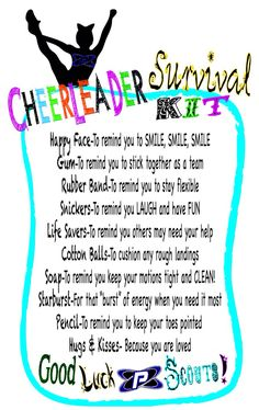 used this for my daughter's Allstar cheer team. Instead of mini candies we used regular size candy bars! Cheer Competition Gifts, Cheer Team Gifts, Cheer Camp, Football Cheer, Cheer Coaches, Cheer Stunts, Cheerleading Gifts, Cheer Party, Cheer Dance