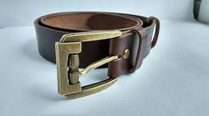 Leather belt Custom leather belt Brown stain full grain