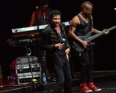 Dancing all night long. GRAMMY winner Lionel Richie grooves onstage during a performance on April 8 in Shanghai