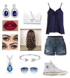 """Cute Date Outfit"" by solieldawnmarie on Polyvore featuring Sans Souci, LE3NO, Converse, Christian Dior and Bling Jewelry"