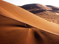 Sand dunes in the Namib Desert,