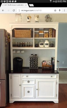 Someone on reddit posted their DIY hutch makeover.  Love it!