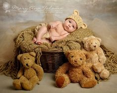 NEWBORN 0-1 Months Teddy Bear Crochet Flapper Beanie Beige with Ears. So Cute. Great for Professional Photography. Photo Props. Baby Gift.. $20.00, via Etsy. - Turn bears heads to look at sweet Tate!