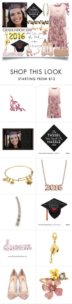 """Graduation Day Dress"" by jeneric2015 ❤ liked on Polyvore featuring Alexis, Alex and Ani, Giani Bernini, Alinka, Kate Spade, Semilla, Betsey Johnson, Alexander McQueen and graduationdaydress"