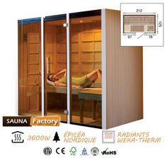 11 meilleures images du tableau sauna infrarouge saunas. Black Bedroom Furniture Sets. Home Design Ideas