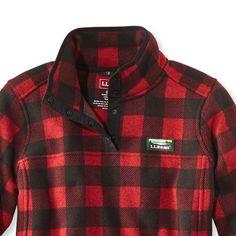 Bean's Sweater Fleece Pullover, Print, Misses Regular