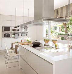 5 Unique, Multipurpose Kitchen Island Ideas for Modern Homes - Best Home Remodel Modern Kitchen Tables, Kitchen Dining, Kitchen Decor, Modern Kitchens, Small Kitchens, White Kitchens, Kitchen Island, Design Your Kitchen, Interior Design Living Room