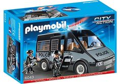 Playmobil City Action - Police Van with Lights and Sound - 6043 - Brand New
