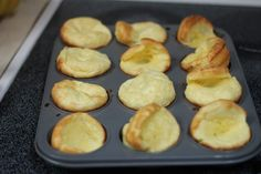 Once Youve Tried German Pancakes Muffin-style, Youll Never Go Back - Yum! Recipe makes 24 pancakes - we put about 2 tablespoons of batter in each muffin cup. What's For Breakfast, Breakfast Dishes, Breakfast Recipes, Breakfast Parties, Pancake Muffins, Pancakes And Waffles, Baby Muffins, Mini German Pancakes, Pancakes Cinnamon