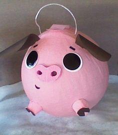 Pig Pinata. Baby Pig Pinata.