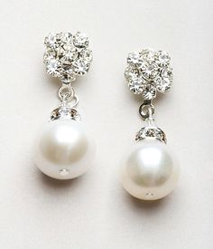 Freshwater Pearl Earring Earrings Swarovlki Real Stud Wedding