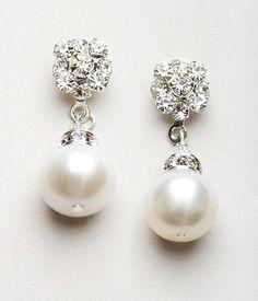 pearl earrings bridesmaid