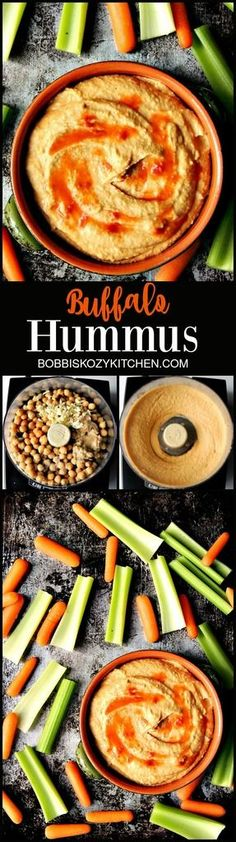 Buffalo Hummus gives you in your face Buffalo flavor in a healthy snack you can feel good about eating. From www.bobbiskozykitchen.com
