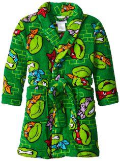 Teenage Mutant Ninja Turtles Little Boys' Multi Bathrobe ,Multi ,2T
