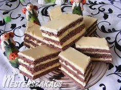 Hungarian Recipes, Hungarian Food, Sweet And Salty, Dessert Bars, Vanilla Cake, Tiramisu, Sandwiches, Cheesecake, Deserts