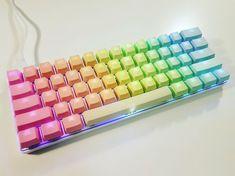 [photos] A Modern Candy Bar : MechanicalKeyboards - Rainbow Photos Gaming Room Setup, Accessoires Iphone, Gamer Room, Rainbow Aesthetic, Over The Rainbow, Rainbow Light, My Room, Rainbow Colors, School Supplies