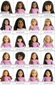 Who's your favorite or highest on wish list? The most recent Truly Me (MAG,JLY) American Girl dolls are shown. 2015 release last 3 http://americangirl.wikia.com/wiki/Visual_Chart_of_Truly_Me_Dolls