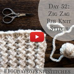 Day 52 : Zig Zag Rib Knit Stitch : Source by neveser Tag Zickzackrippenstrickmasche: # – Mónica Campos – Willkommen bei Pin World Stitch : Today's stitch is the Diagon Tutorials for 'different' Knit pretty and super stretchy crochet ribbing. Knitting Stiches, Knitting Videos, Crochet Videos, Loom Knitting, Knitting Socks, Knitting Patterns Free, Free Knitting, Knitting Projects, Crochet Stitches