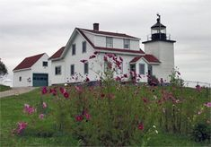Fort Point Lighthouse and State Park in Stockton Springs