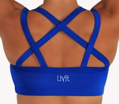 Kiava clothing! The Royal Blue Endurance Bra!