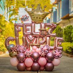 Mini Balloons, Custom Balloons, Birthday Balloons, Balloon Flowers, Balloon Bouquet, 21st Birthday Bouquet, Diy Birthday, Balloon Columns, Balloon Garland