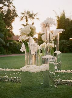 Tall wedding flower arrangement