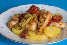 Chicken food from roasting pan - hydina - Russian No Salt Recipes, Great Recipes, Chicken Recipes, Cooking Recipes, Czech Recipes, Russian Recipes, Ethnic Recipes, Y Recipe, Roasting Pan