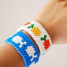 Fruit and Fish Perler Bead Bracelets