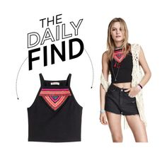 """The Daily Find: H&M Loves Coachella Tank Top"" by polyvore-editorial ❤ liked on Polyvore featuring H&M and DailyFind"