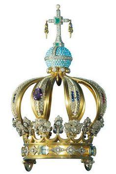 Corona de la Virgen de Fátima con bala de JPII
