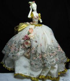 Купить Антикварная фарфоровая кукла - половинка, half doll, pin cushion doll - антиквариат винтаж