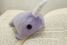 Narwhal Plush in Light Purple - Small