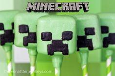 """To nie jest tak wiele """"how-to"""" stanowisko jako """"można to zrobić"""" post na Minecraft Piękna traktowanie.  Sprawdź te niesamowite Creepers i inne niesamowite pomysły cake pop, na http://sevenlittlemonkeys.com"""