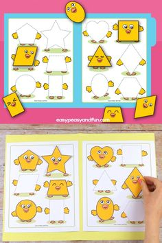 Chick Shapes Matching File Folder Game This file folder game is perfect to use around Easter time. Preschool Learning Activities, Preschool Worksheets, Learning Games, Preschool Activities, Play Based Learning, Material Didático, Shapes For Kids, Science Crafts, File Folder Games
