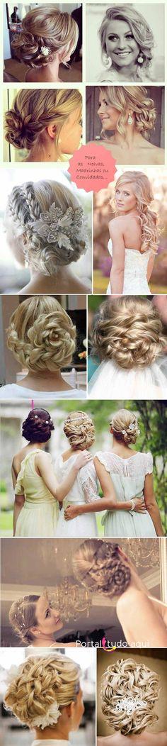 Veja dicas de fotos de lindos penteados inspiradores para festa, madrinha, noiva, debutante ou formatura e escolha o seu!