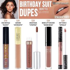"""Birthday Suit is available as a single on Kylie Cosmetics ⇢ Gerard Cosmetics' """"Aphrodite"""" is no longer available for purchase"""