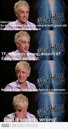 Harry Potter interview with Tom Felton, actor of Draco Malfoy Estilo Harry Potter, Harry Potter Puns, Harry Potter Cast, Harry Potter World, Harry Potter Interviews, Tom Felton, Drarry, Dramione, Hery Potter